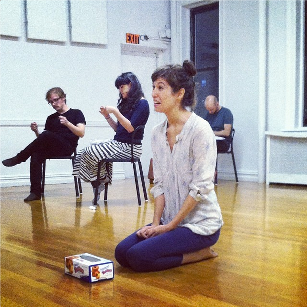 "rehearsing ""Obedient Steel"""