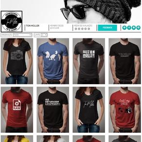 LOJA: Minhas Camisetas Masculinas e Femininas estão Online!