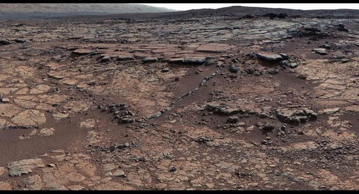 Rochas na regiçao de Yellowknife Bay em Marte