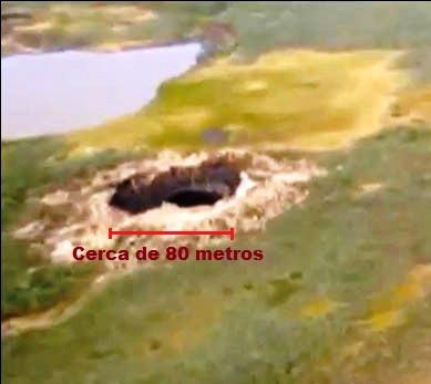 O primeiro buraco surgiu na Península de Yamal