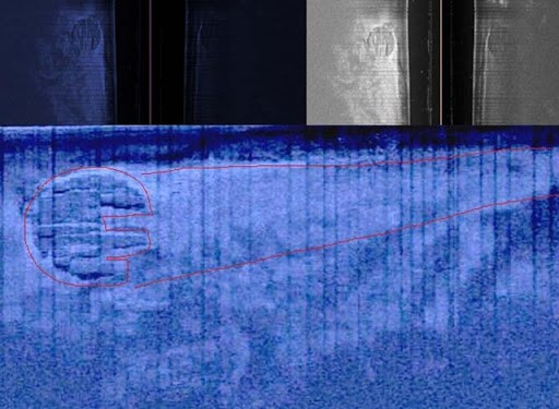 Fotos divulgadas pela expedição mostram as imagens feitas com sonar.