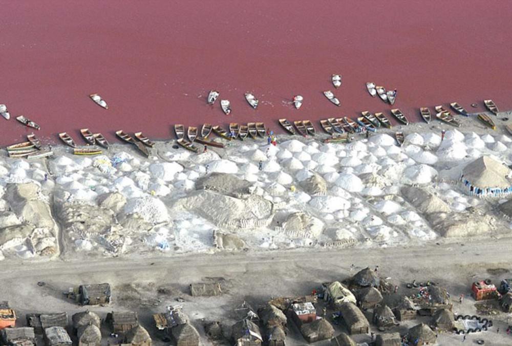 Senegal lago pink lake rosa lago rosa