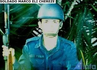 O soldado Marco Chereze foi uma das vítimas pelo contato com o ser estranho
