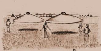 Desenho baseado em descrições de testemunhas [Arquivo - Revista Ufo]