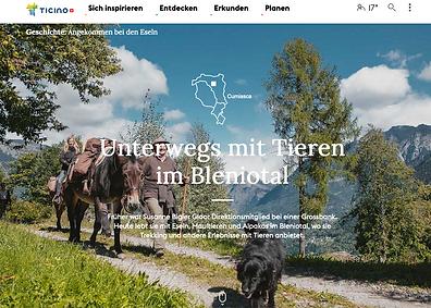 SOMARELLI Tessin Tourismus Storie Unterwegs mit Tieren im Bleniotal