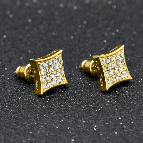 Gold Diamond Earrings - 021