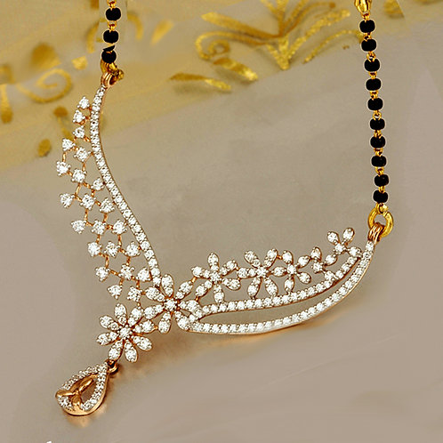 Gold Diamond Mangalsutra - 018