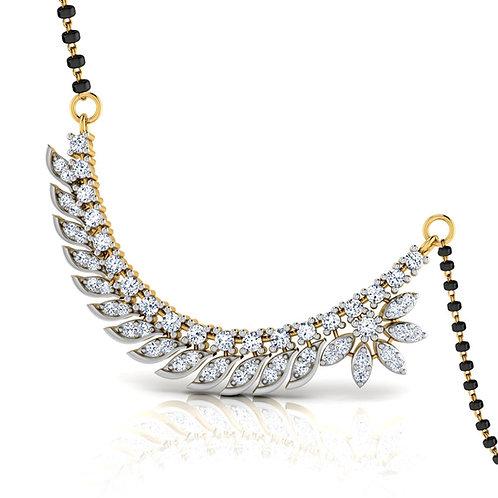 Gold Diamond Mangalsutra - 020