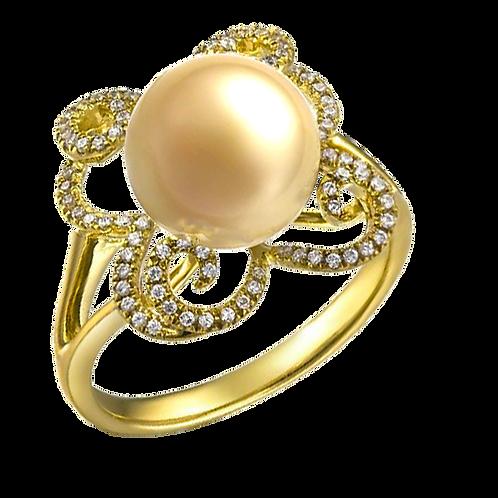 Lady Pearl Diamond Ring - 006