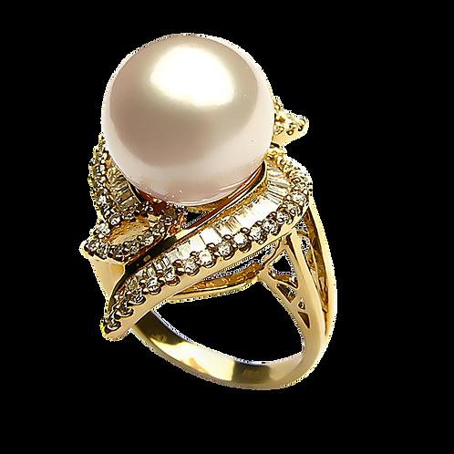 Lady Pearl Diamond Ring - 007