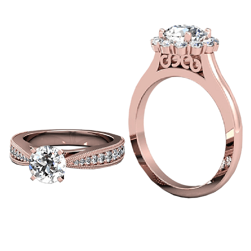 Diamond Solitaire Ring - 055