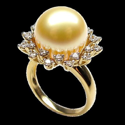 Lady Pearl Diamond Ring - 010