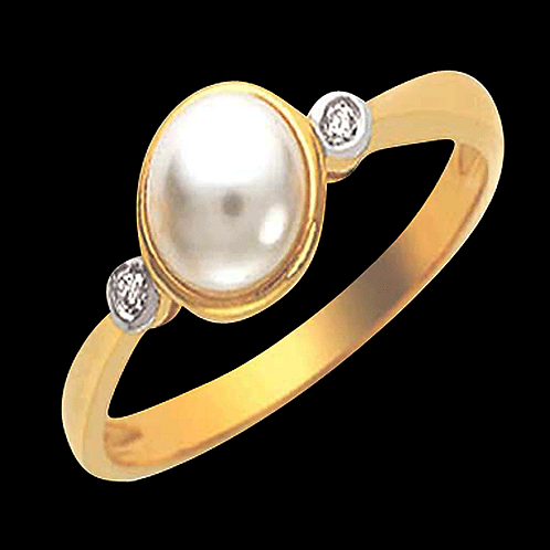 Lady Pearl Diamond Ring - 002