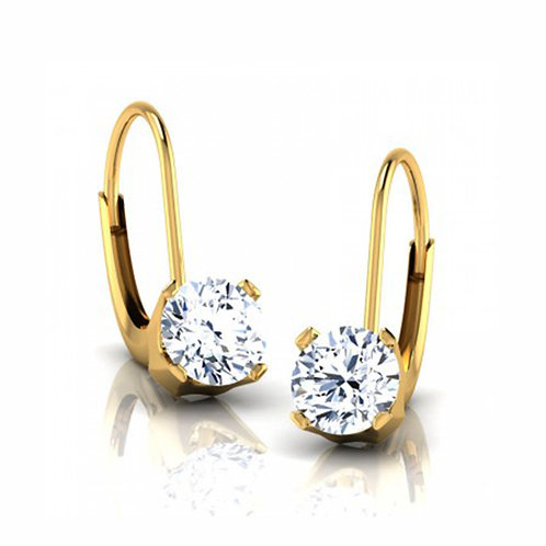 Diamond Solitaire Earring 037