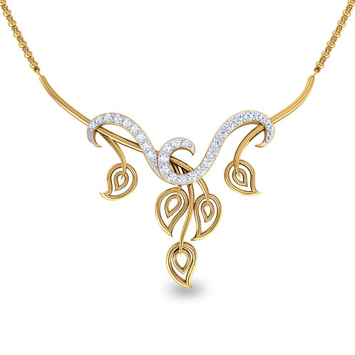 Gold Diamond Mangalsutra - 013