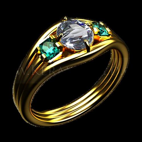 Ladies Flower Ring - 013