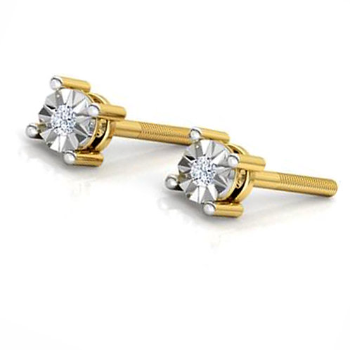Diamond Solitaire Earring 033