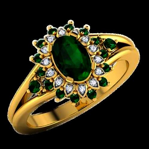 Emerald Diamond Ring - 001