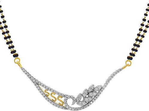 Gold Diamond Mangalsutra - 007