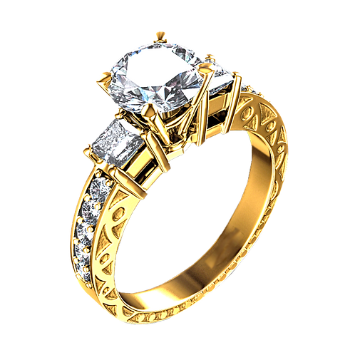 Diamond Solitaire Ring - 030