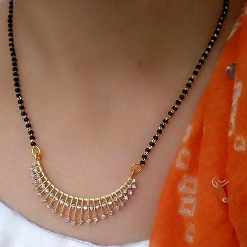 Gold Diamond Mangalsutra - 003
