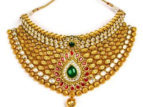 Gold Necklace 001