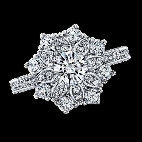 Ladies Flower Ring - 010