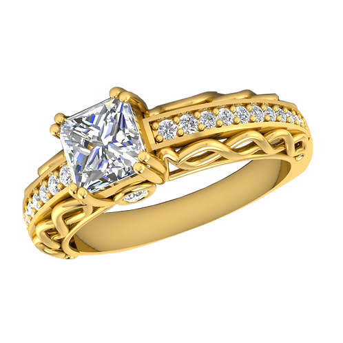 Diamond Solitaire Ring - 028