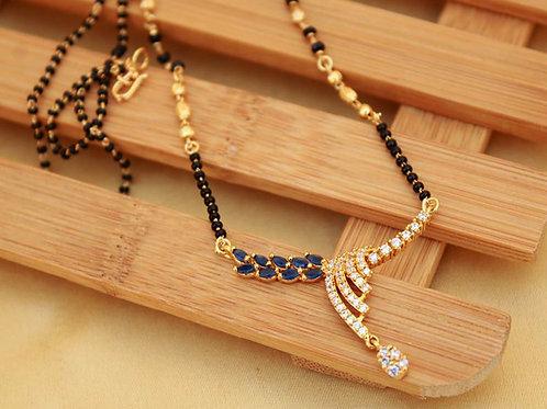 Gold Diamond Mangalsutra - 011