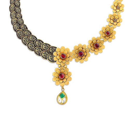 Gold Necklace 022