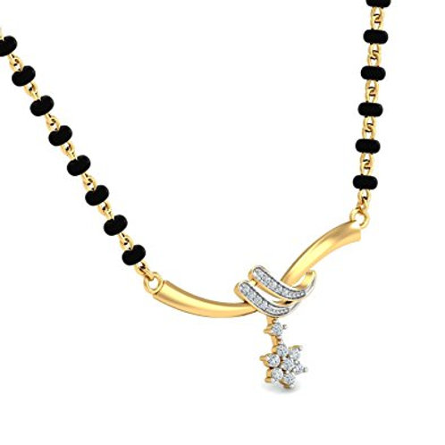 Gold Diamond Mangalsutra - 008