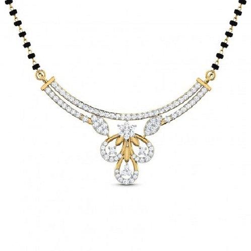 Gold Diamond Mangalsutra - 019