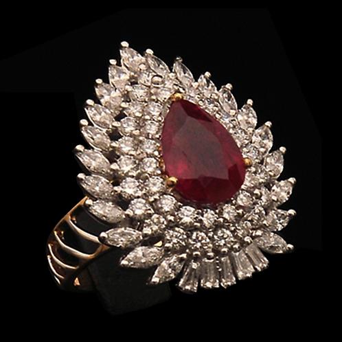 Ladies Flower Ring - 022