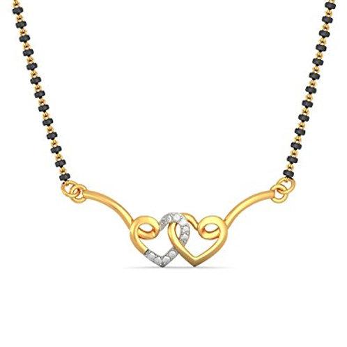 Gold Diamond Mangalsutra - 006