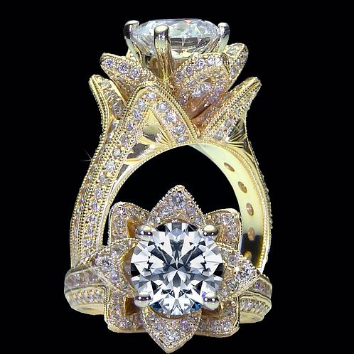 Ladies Flower Ring - 001