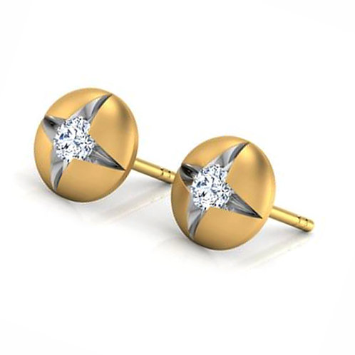 Diamond Solitaire Earring 035