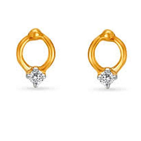 Diamond Gold Earrings - 024