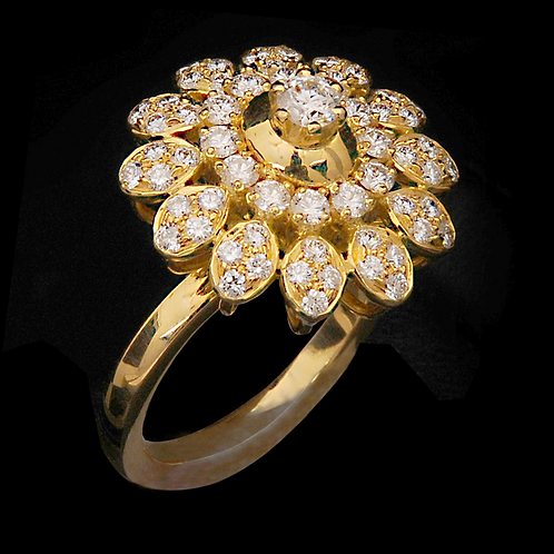 Ladies Flower Ring - 020