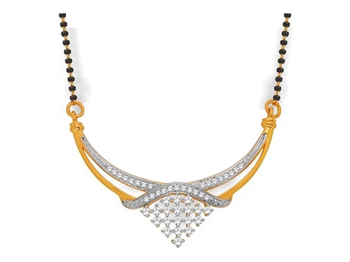 Gold Diamond Mangalsutra - 002
