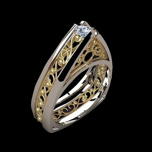 Ladies Solitaire Ring - 018