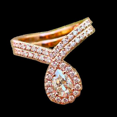 Morganite Diamond Ring - 018