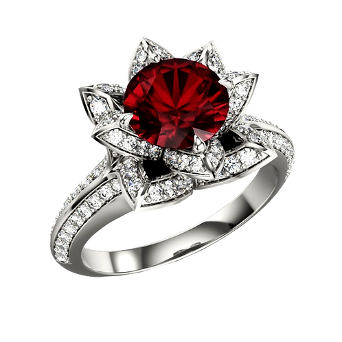 Ladies Flower Ring - 006