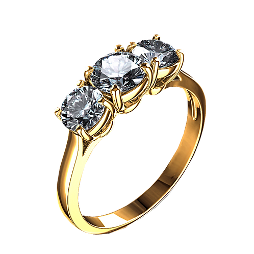 Diamond Solitaire Ring - 054