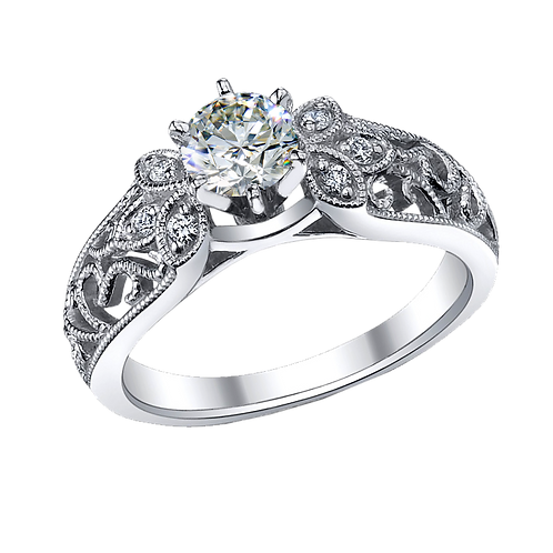 Diamond Solitaire Ring - 026