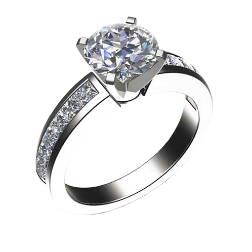 Diamond Solitaire Ring - 027