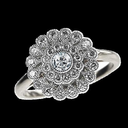 Ladies Flower Ring - 012