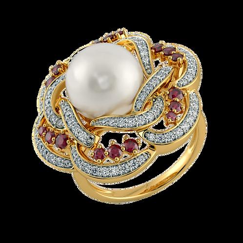 Ladies Flower Ring - 009