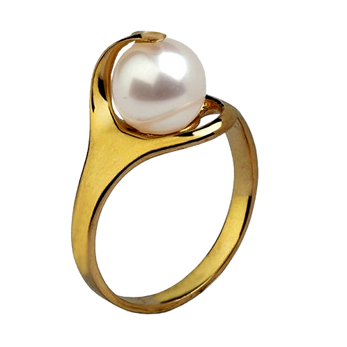Lady Pearl Diamond Ring - 004