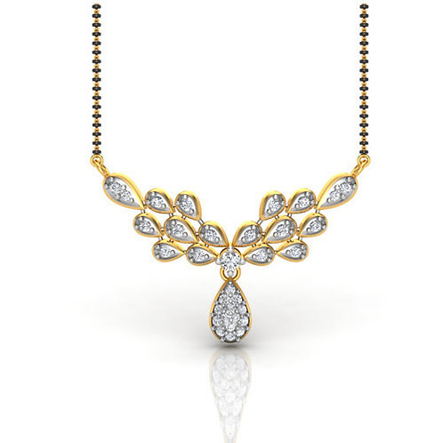 Gold Diamond Mangalsutra - 019