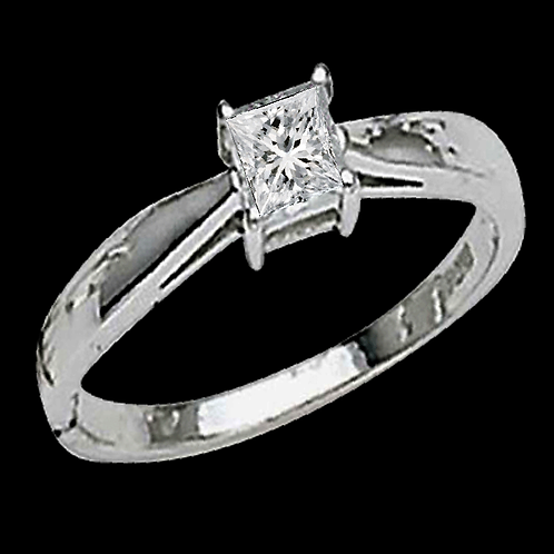 Ladies Solitaire Ring - 009